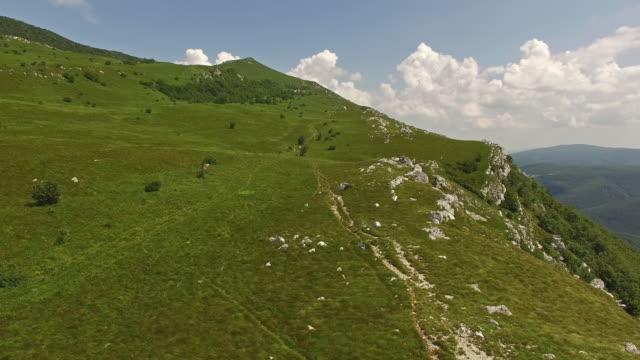 Aerial view of Nanos Plateau, Slovenia video