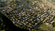Aerial view of New Jersey and suburbs, NY, USA video