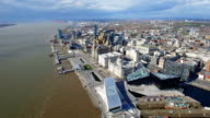 Aerial View of New Liverpool Cityscape Skyline video