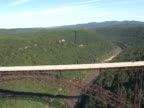 Aerial view of New River Gorge Bridge, WV video