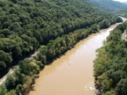 Aerial view of New River, West Virginia video