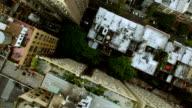 aerial view of new york city skyline metropolis. cityscape establishment shot of high rise buildings video