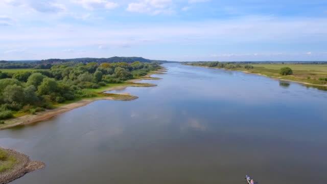 Aerial View of ' Niedersächsische Elbtalaue ' and River Elbe in Lower Saxony, Germany video