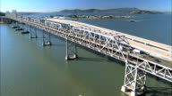 Aerial View of Oakland Bridge video