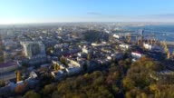 Aerial View of Odessa Downtown old city and sea port video