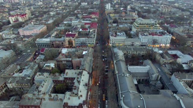 Aerial view of Odessa downtown old city video