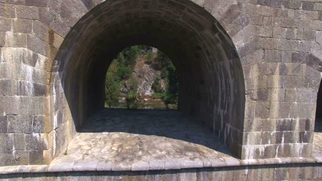 Aerial view of old Tounj Bridge, Croatia video