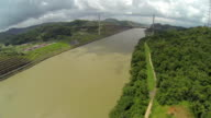 Aerial View of Panama Centenarian Centennial bridge in Panama City video