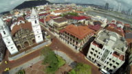 Aerial view of Panama City, Casco Viejo video