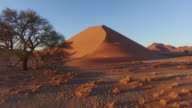 4K aerial view of parabolic sand dunes inside the Namib-Naukluft National Park video