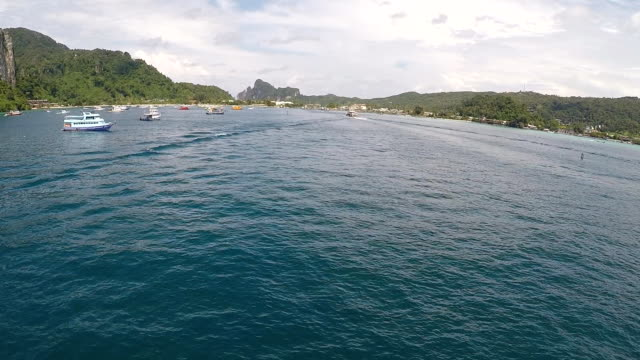 Aerial view of Phi Phi Island Thailand video