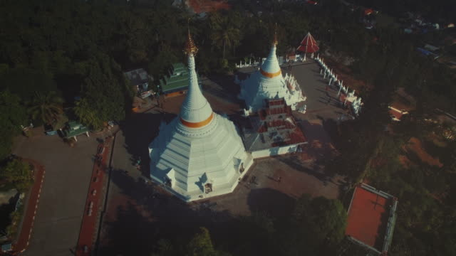 Aerial View of Phra That Doi Kong Moo Temple video