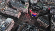 4K Aerial View of Piccadilly Circus, City of London, England video
