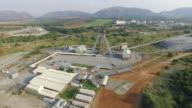 4K Aerial view of Platinum mine video