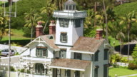 Aerial view of  Point Fermin Lighthouse, California video