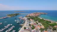 4K Aerial view of quay of Sozopol video