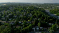 Aerial view of residential homes and suburbs, Seattle video