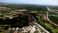 Aerial View Of Resort Houses video