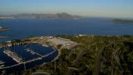 Aerial view of Rio De Janeiro and yacht marina video