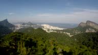 Aerial view of Rio de Janeiro trow the famous spot 'Vista Chinesa', Brazil video