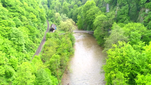 Aerial View of River Canyon video