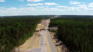 Aerial View of Road Construction video