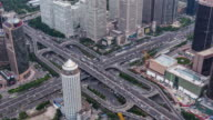 T/L WS HA Aerial View of Road Intersection / Beijing, China video
