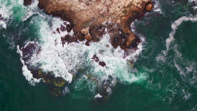 Aerial view of rocky Maui, Hawaii coastline with crop fields video
