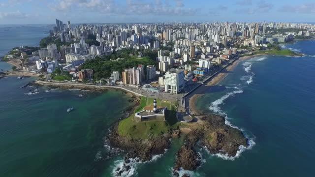 Aerial View of Salvador Cityscape, Bahia, Brazil video