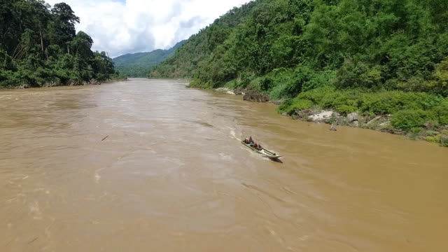 Aerial view of Salween River video