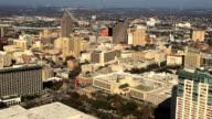 Aerial view of San Antonio city center video