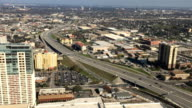 Aerial view of San Antonio expressways video