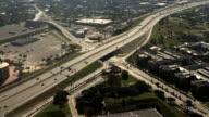 Aerial view of San Antonio, Texas traffic video