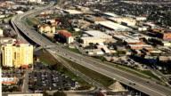Aerial view of San Antonio traffic video