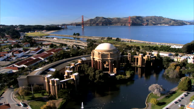 Aerial view of San Francisco Museum video
