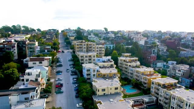 Aerial view of SF Residential Hills video