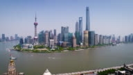 Aerial view of Shanghai on a sunny day with the bund video