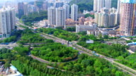 Aerial view of Shen Zhen City video