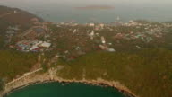 Aerial view of sichang island, Thailand video
