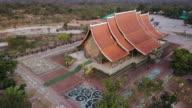aerial view of Sirindhorn Wararam Phu Prao Temple (Wat Phu Prao) video