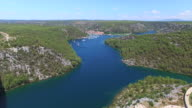 Aerial view of Skradin, Croatia video