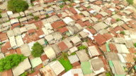 Aerial view of slums from Bangkok, Thailand video