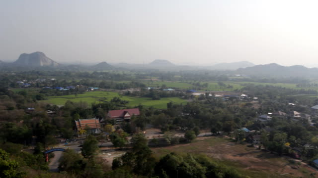 Aerial view of small town in Ratchabri, Thailand video