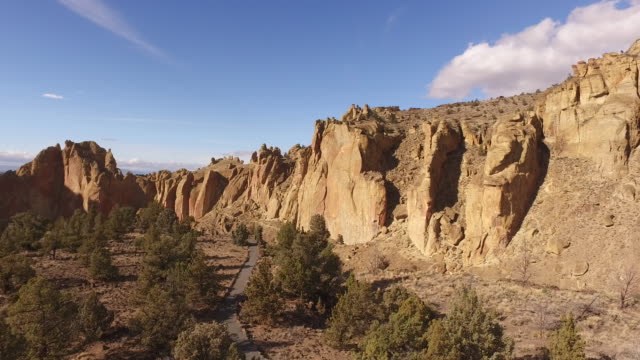 Aerial view of Smith Rock, Oregon video