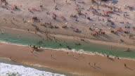 Aerial view of São Conrado beach, Rio de Janeiro, Brazil video