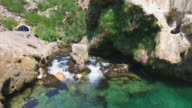 Aerial view of source of river Krka video
