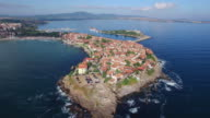 4K Aerial view of Sozopol, Bulgaria video