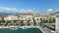 Aerial view of Split, Croatia video