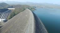Aerial view of Srinakarin Dam in Kanchanaburi-Thailand video