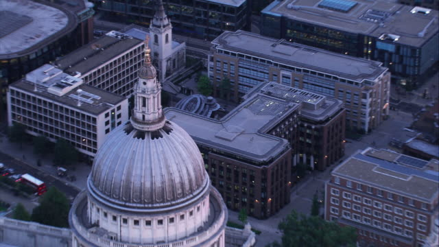 Aerial View of St Paul's Cathederal, London video